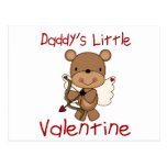 Daddy's Little Valentine Postcard