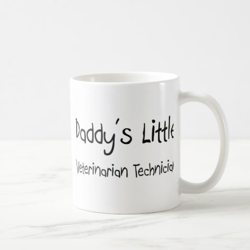 Daddy's Little Veterinarian Technician Coffee Mug