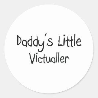 Daddy's Little Victualler Round Sticker