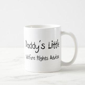 Daddy's Little Welfare Rights Adviser Coffee Mugs