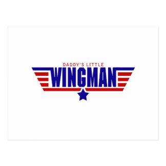 Daddys Little Wingman Postcard
