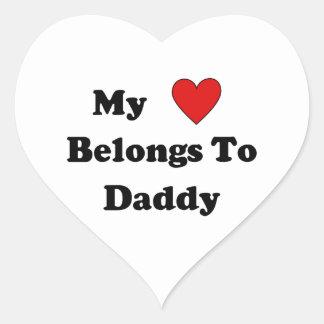Daddys Love Heart Sticker