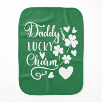 Daddys Lucky Charm Burp Cloth