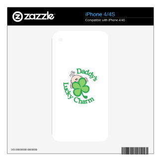 Daddy's Lucky Charm iPhone 4S Decals