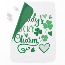 Daddys Lucky Charm Stroller Blanket