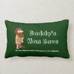 Daddy's Man Cave Customizable Pillow