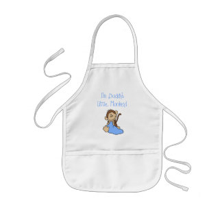 Daddy's Monkey-Blue Tshirts and Gifts Kids' Apron
