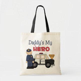Daddy's My Hero Policeman Canvas Bag