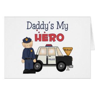 Daddy's My Hero Policeman Card