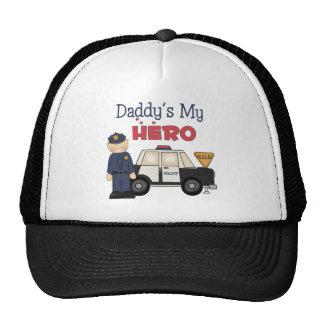 Daddy's My Hero Policeman Trucker Hats
