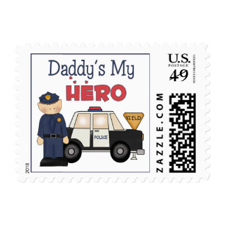 Daddy's My Hero Policeman Postage