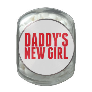 Daddy's New Girl Jelly Belly Candy Jar
