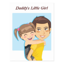 Daddy's Piggyback ride Postcard
