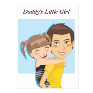 Daddy's Piggyback ride Postcard