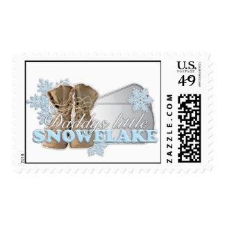 Daddys poco copo de nieve (azul) sellos