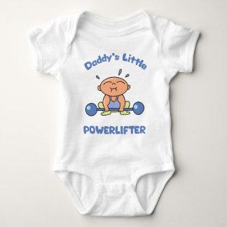 Daddys poco Powerlifter embroma el deporte Body Para Bebé