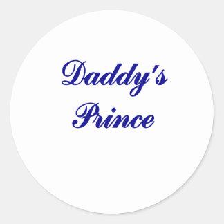 Daddy's Prince Classic Round Sticker