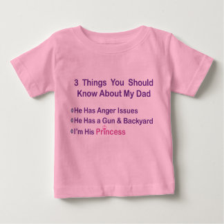 Daddy's Princess Baby T-Shirt