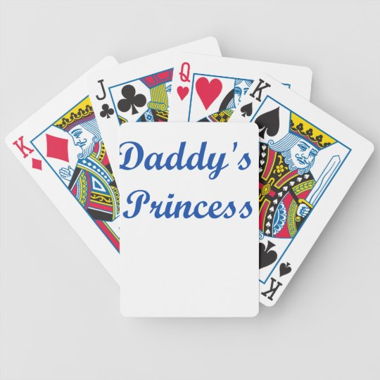 Daddy's Princess Bicycle Playing Cards