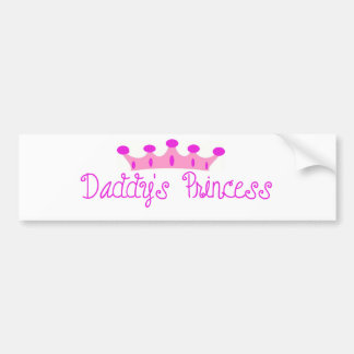 Daddy's Princess Bumper Sticker