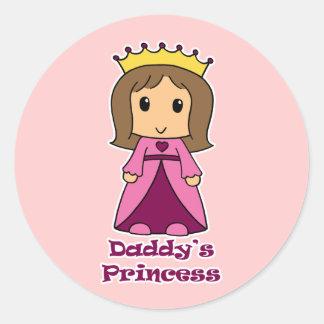 Daddy's Princess Classic Round Sticker