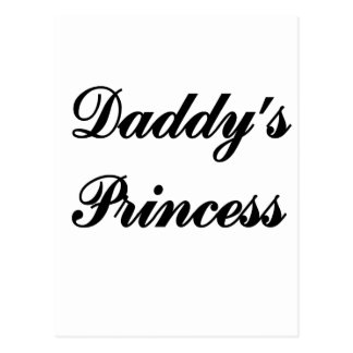 Daddy's Princess Postcard