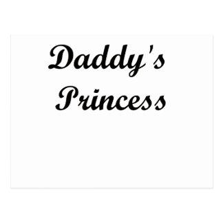 Daddy's Princess Postcard