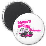 Daddy's Racing Princess Fridge Magnets