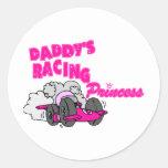 Daddy's Racing Princess Sticker