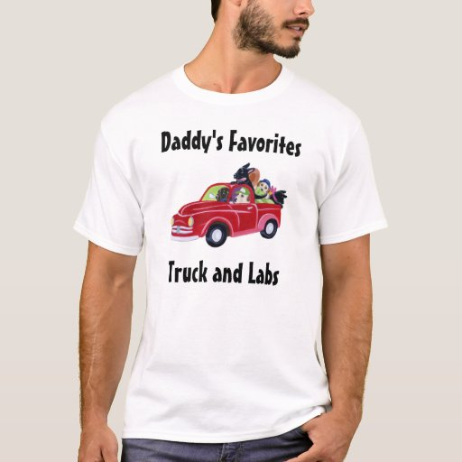 Daddy's Red Truck and Labradors