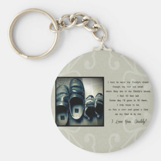 Daddy's Shoes Keychain