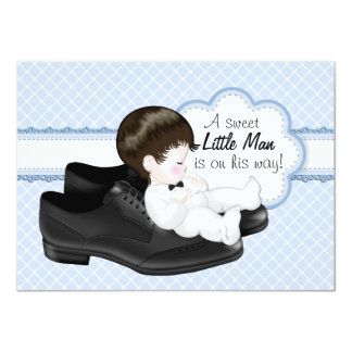 Daddys Shoes Little Man Baby Shower Invite