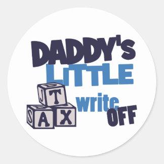 Daddys Tax Write Off Classic Round Sticker