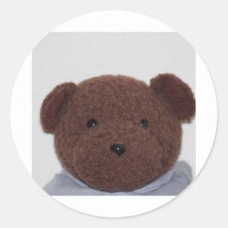 Daddys Teddy Bear Classic Round Sticker