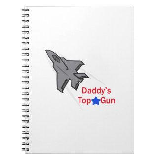 DADDYS TOP GUN SPIRAL NOTEBOOKS