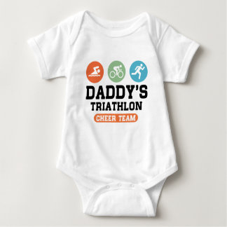 Daddy's Triathlon Cheer Team Baby Bodysuit