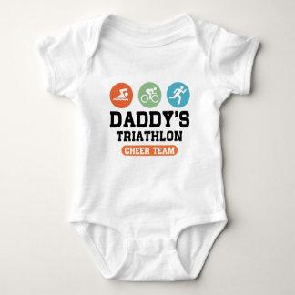 Daddy's Triathlon Cheer Team Baby Bodysuit