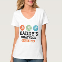 Daddy's Triathlon Cheer Team T-Shirt