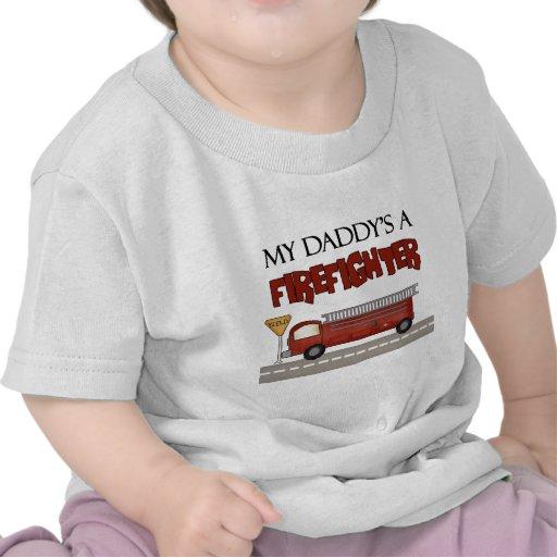 Daddys un bombero camisetas