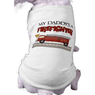 Daddys un bombero ropa perro