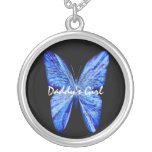 Daddy's Wings Round Pendant Necklace