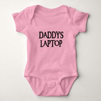 DADDYSLAPTOPBLK BABY BODYSUIT