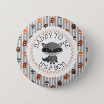 DaddyTo Be Button Woodland Aninmal Theme