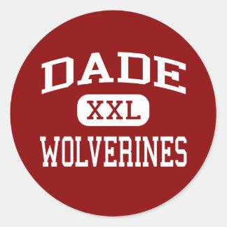 Dade - Wolverines - Middle - Trenton Georgia Classic Round Sticker