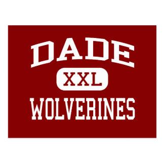 Dade - Wolverines - Middle - Trenton Georgia Postcard