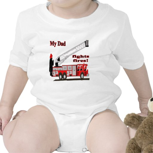 dadfightsfires traje de bebé