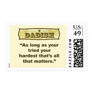 Dadism - As long as your tired your hardest Postage Stamp