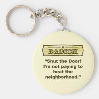 ¡Dadism - cierre la puerta! Llavero Redondo Tipo Pin