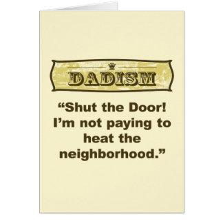 ¡Dadism - cierre la puerta! Tarjeta De Felicitación