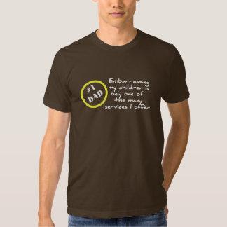 Dadism divertido, la mejor camiseta del papá camisas